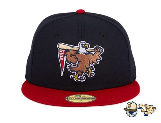 Hat Club Exclusive Sean McCarthy Bald Eagle Navy Red 59Fifty Fitted Hat by Sean McCarthy x New Era