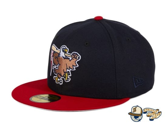 Hat Club Exclusive Sean McCarthy Bald Eagle Navy Red 59Fifty Fitted Hat by Sean McCarthy x New Era flag side