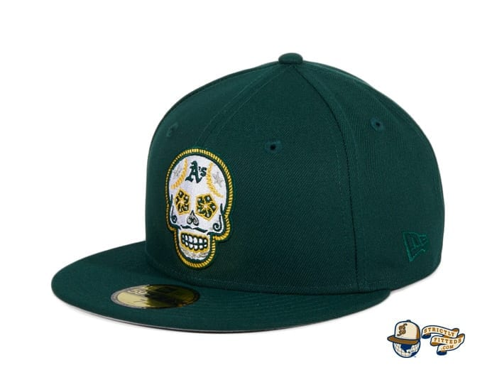 Hat Club Exclusive Sugar Skull 59Fifty Fitted Hat Collection by MLB x New Era flag side