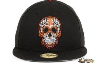 Hat Club Exclusive Sugar Skull 59Fifty Fitted Hat Collection by MLB x New Era giants