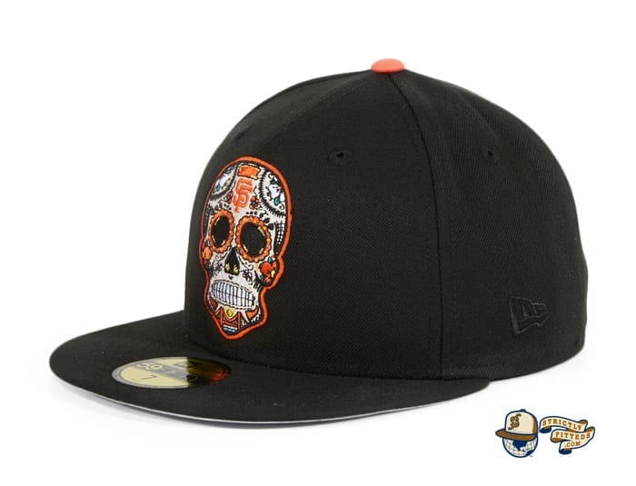 Hat Club Exclusive Sugar Skull 59Fifty Fitted Hat Collection by MLB x New Era flag side giants