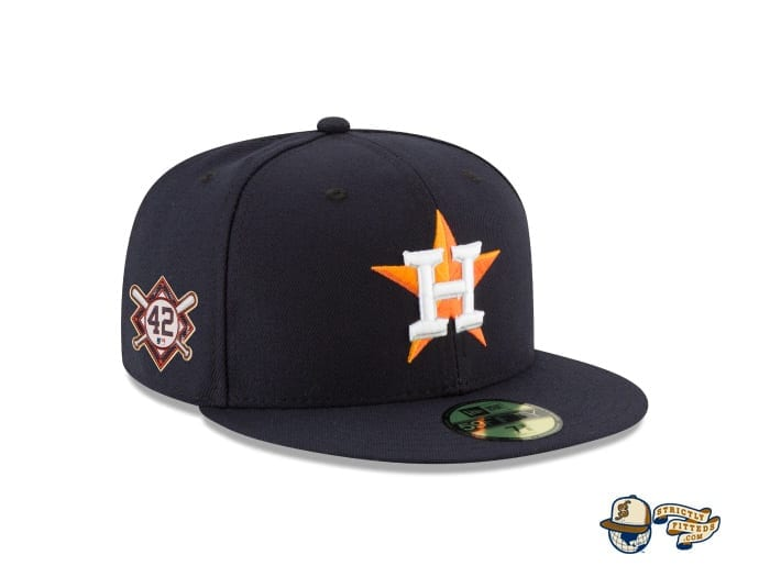 Jackie Robinson Day 2020 59Fifty Fitted Cap Collection by MLB x New Era houston patch side