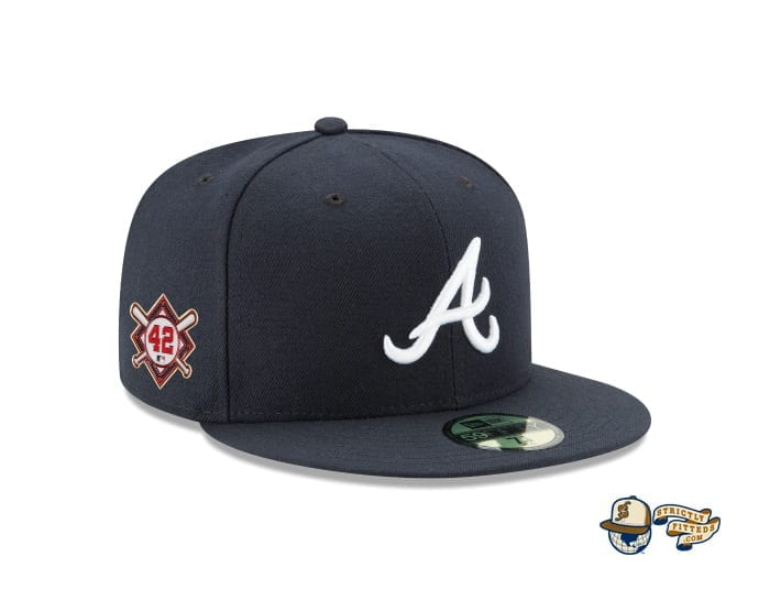 Jackie Robinson Day 2020 59Fifty Fitted Cap Collection by MLB x New Era braves patch side