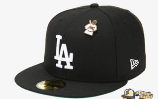 Jackie Robinson LA Dodgers 59Fifty Fitted Cap by MLB x New Era flag side