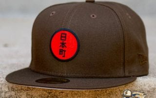 Japantown Nimonhachi Brown 59Fifty Fitted Hat by Thrill SF x New Era flag side
