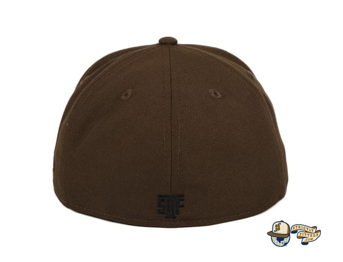 Japantown Nimonhachi Brown 59Fifty Fitted Hat by Thrill SF x New Era back