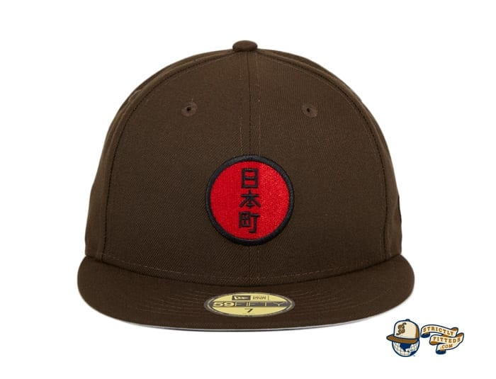 Japantown Nimonhachi Brown 59Fifty Fitted Hat by Thrill SF x New Era