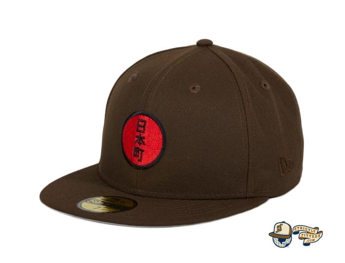 Japantown Nimonhachi Brown 59Fifty Fitted Hat by Thrill SF x New Era flag