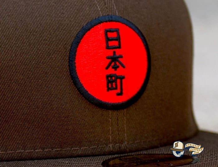Japantown Nimonhachi Brown 59Fifty Fitted Hat by Thrill SF x New Era embroidery
