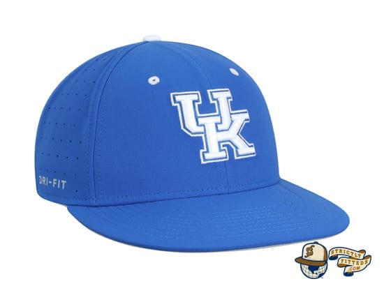 Kentucky Wildcats Aerobill Performance True Fitted Hat by Nike dri-fit right side