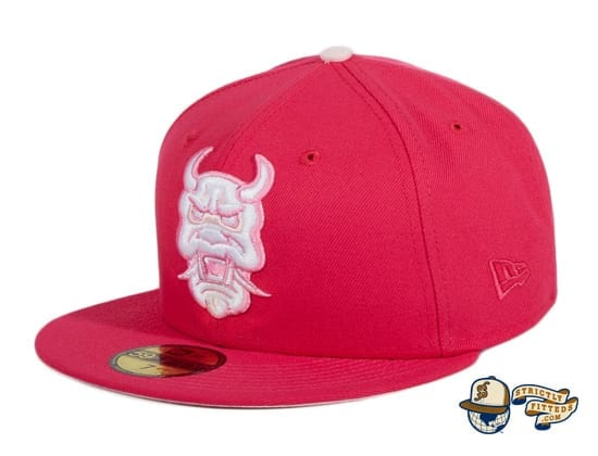 Limited Time Preorder Cherry Blossom Oni & Wendigo 59Fifty Fitted Hat by Dionic x New Era flag side