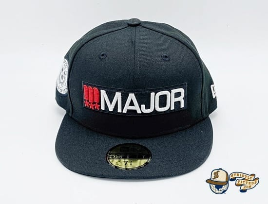Major Classics Bar Logo Black 59Fifty Fitted Cap by Major x New Era