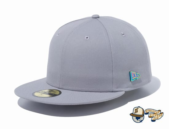 Metal Flag Logo 59Fifty Fitted Cap by New Era grey side