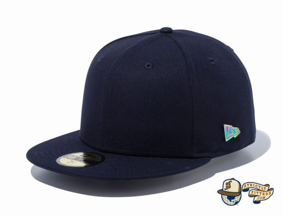 Metal Flag Logo 59Fifty Fitted Cap by New Era navy side