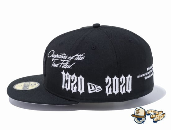 New Era 1920-2020 New York Yankees 59Fifty Fitted Cap by MLB x New Era flag side