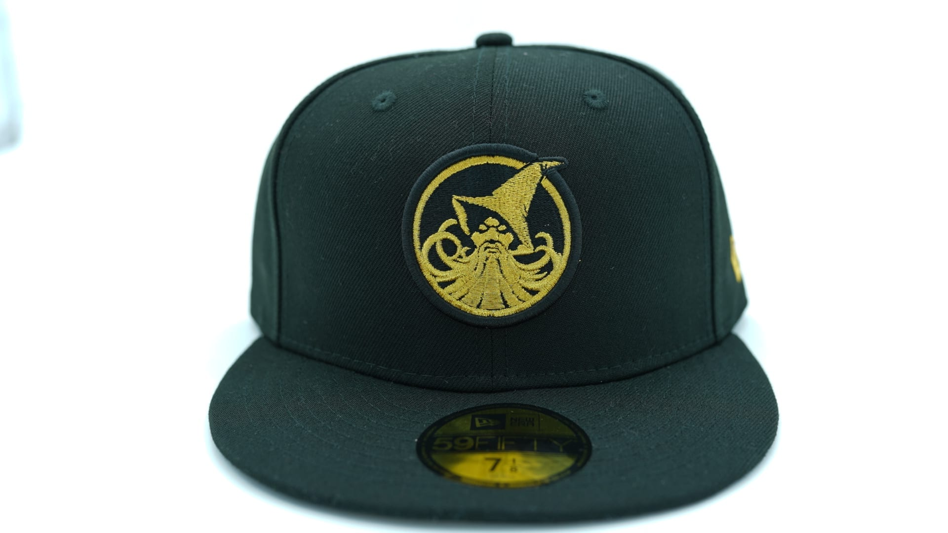 Chamuco Golden Domers Navy 59Fifty Fitted Hat by Chamucos Studio x New Era flag side