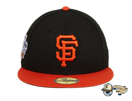 San Francisco Giants 2010 World Series Patch Black Orange 59Fifty Fitted Hat by MLB x New Era