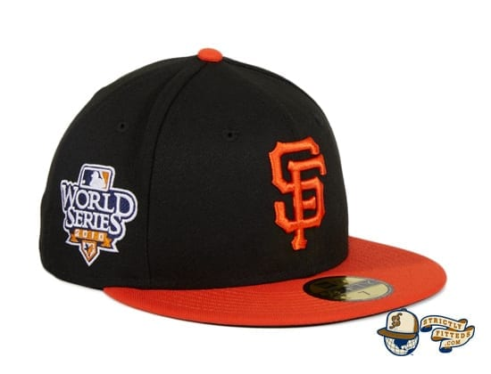San Francisco Giants 2010 World Series Patch Black Orange 59Fifty Fitted Hat by MLB x New Era patch side
