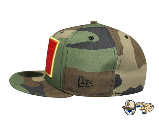 Slaps Wind 59Fifty Fitted Cap by Fitted Hawaii x New Era flag side