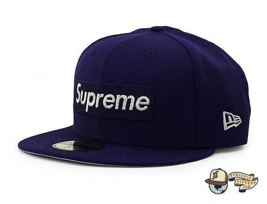 Supreme $1M Metallic Box Logo 59Fifty Fitted Cap by Supreme x New Era flag side