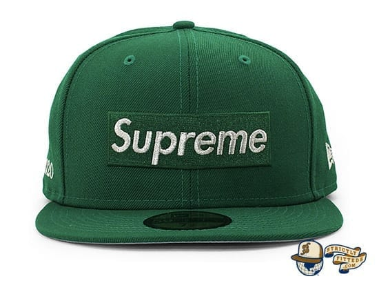 Supreme $1M Metallic Box Logo 59Fifty Fitted Cap by Supreme x New Era green