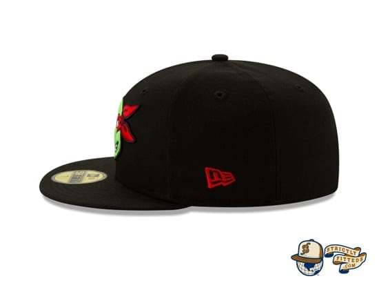 Teenage Mutant Ninja Turtles 59Fifty Fitted Cap by TMNT x New Era raphael left side