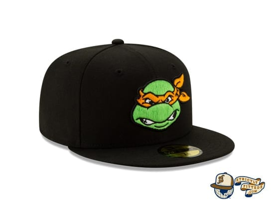 Teenage Mutant Ninja Turtles 59Fifty Fitted Cap by TMNT x New Era michaelangelo right side
