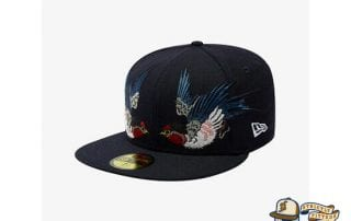 Tsubame Black 59Fifty Fitted Cap by Masumi Ishikawa x New Era flag side