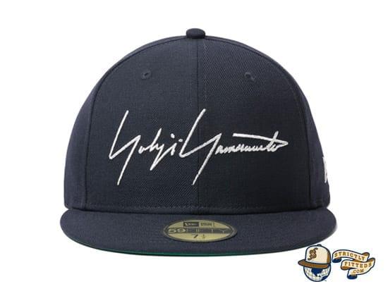 Yohji Yamamoto SS20 Signature Logo Navy 59Fifty Fitted Cap by Yohji Yamamoto x New Era