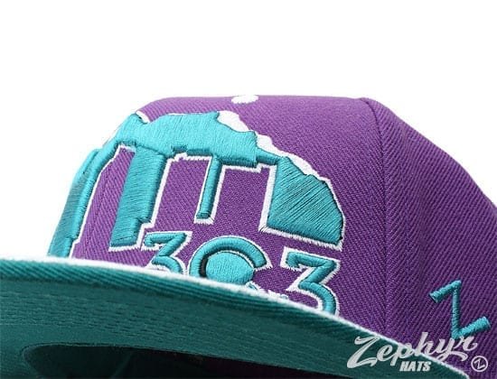 Zephyr x Colab Fitted Baseball Caps purple