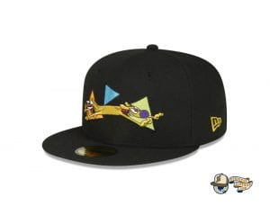 CatDog Black 59Fifty Fitted Cap by Nickelodeon x New Era flag side