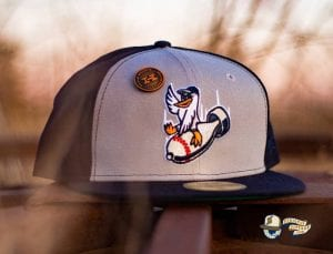 Goose Island Bombers Navy Gray 59Fifty Fitted Hat by Dionic x New Era left