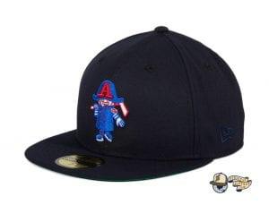 Hat Club Exclusive Milwaukee Admirals Retro 59Fifty Fitted Hat Collection by AHL x New Era flag side black