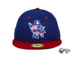 Hat Club Exclusive Milwaukee Admirals Retro 59Fifty Fitted Hat Collection by AHL x New Era blue