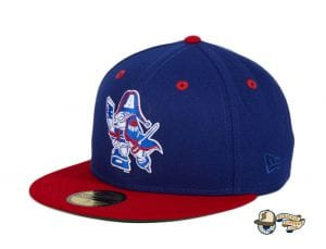 Hat Club Exclusive Milwaukee Admirals Retro 59Fifty Fitted Hat Collection by AHL x New Era flag side