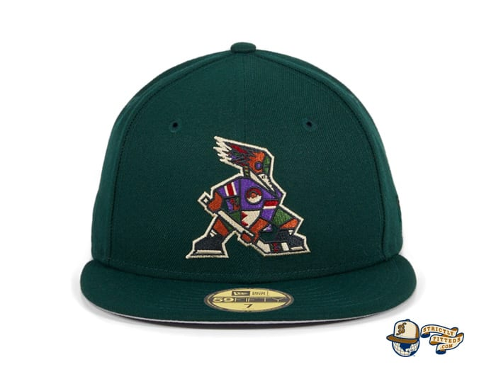 Hat Club Exclusive Tucson Roadrunners Alternate Green 59Fifty Fitted Hat by AHL x New Era