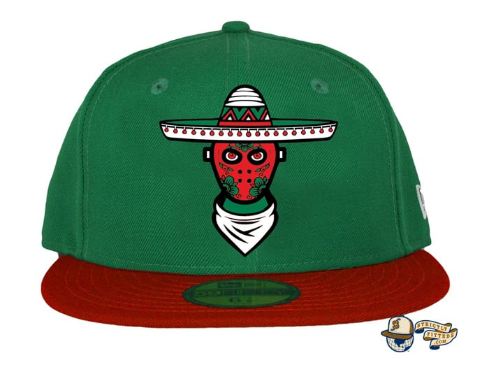 Loco Killer Green Red 59Fifty Fitted Cap by Milk x New Era