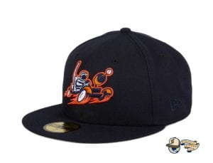 Moon Buggy Navy 59Fifty Fitted Hat by Sean McCarthy x New Era flag side