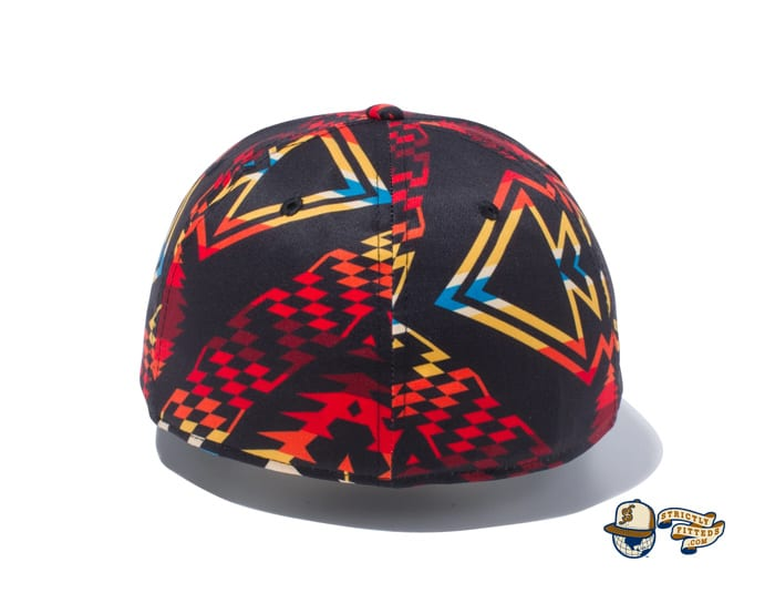 Pendleton Woven Patch All Over Print 59Fifty Fitted Cap by Pendleton x New Era black back