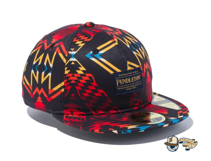 Pendleton Woven Patch All Over Print 59Fifty Fitted Cap by Pendleton x New Era right side black