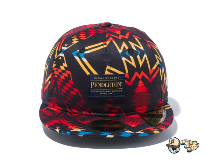 Pendleton Woven Patch All Over Print 59Fifty Fitted Cap by Pendleton x New Era black
