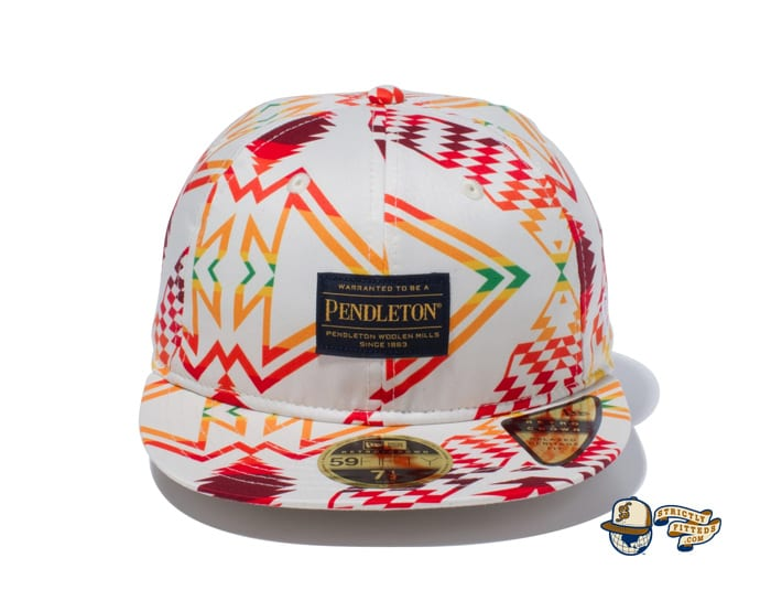 Pendleton Woven Patch All Over Print 59Fifty Fitted Cap by Pendleton x New Era ivory