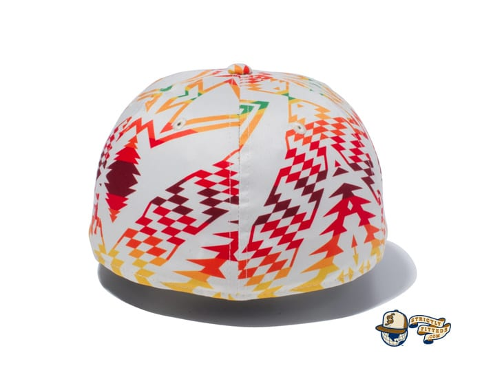 Pendleton Woven Patch All Over Print 59Fifty Fitted Cap by Pendleton x New Era back ivory