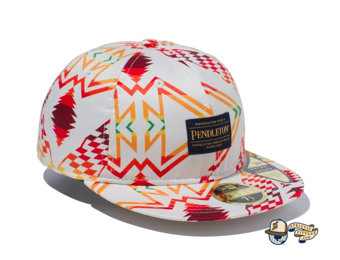 Pendleton Woven Patch All Over Print 59Fifty Fitted Cap by Pendleton x New Era right side ivory