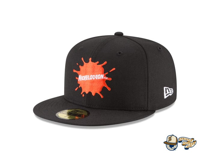 Splatter Logo 59Fifty Fitted Cap by Nickelodeon by New Era left side