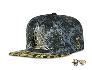 Celestial Serpent Black Fitted Cap by Grassroots