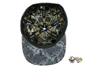 Celestial Serpent Black Fitted Cap by Grassroots Bottom