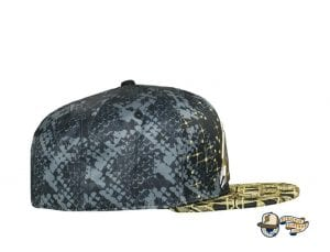 Celestial Serpent Black Fitted Cap by Grassroots Side
