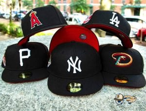 Hat Club MLB Lui V Red Bottom 59Fifty Fitted Hat Collection by MLB x New Era Front