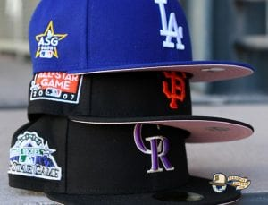 MLB All Star Game Patch 59Fifty Fitted Hat Collection by MLB x New Era Pink